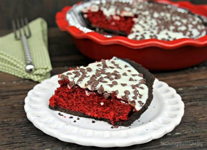 White Chocolate Red Velvet Pie 2