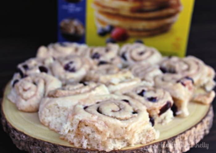 Homemade Orange Glazed Cinnamon Cranberry Rolls platter