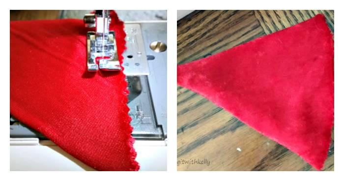 DIY Pet Santa Hat Tutorial sewing
