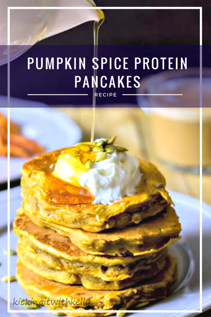 These Pumpkin Spice Protein Pancakes are a delicious and filling start to your day