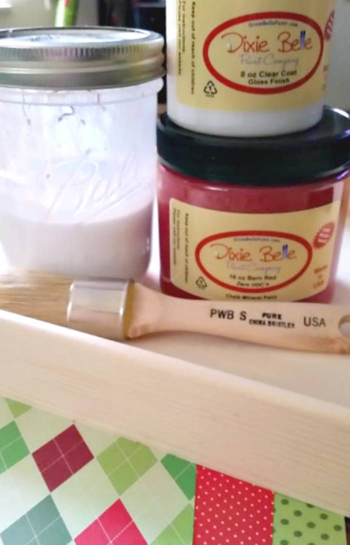 DIY Monogrammed Wooden Christmas Tray supplies