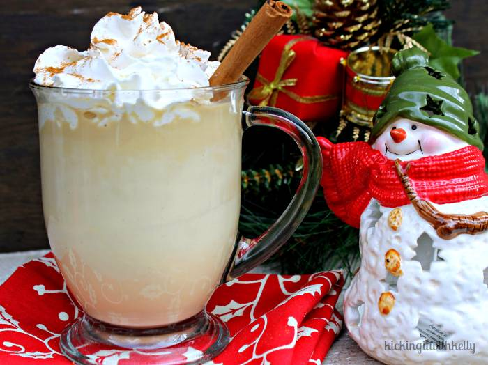 Copycat Starbucks Skinny Eggnog Latte - Kicking It With Kelly