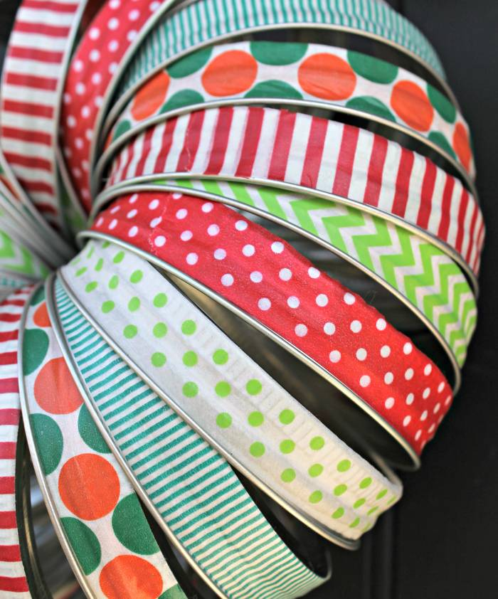 Washi Tape Mason Jar Lid Christmas Wreath 2