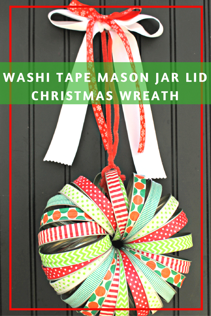 I love keepsakes from my childhood as well as my kids, don't you? Each year, we make a new holiday decoration or ornament to add to our collection. This year, we are making a festive Washi Tape Mason Jar Bands Christmas Wreath.