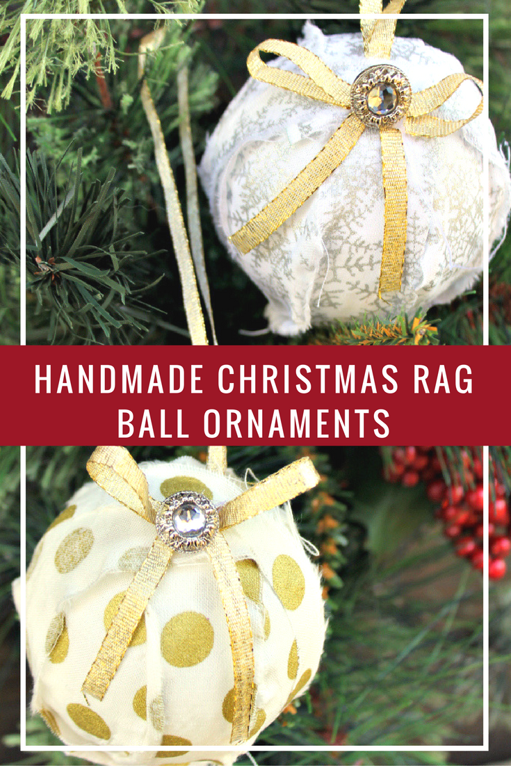 My daughter and I love to make crafts together during the holidays. This year we made these beautiful and easy to make Handmade Christmas Rag Ball Ornaments!