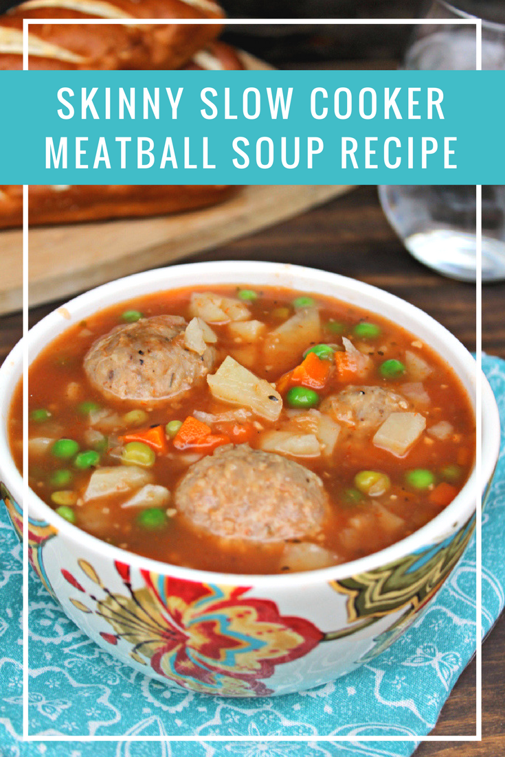 Because I work from home, I can wear my pajamas while I type away on this blog post! Netflix can play in the background. And my comfort food for the day? My hearty and chill crushing Skinny Slow Cooker Meatball Soup Recipe!