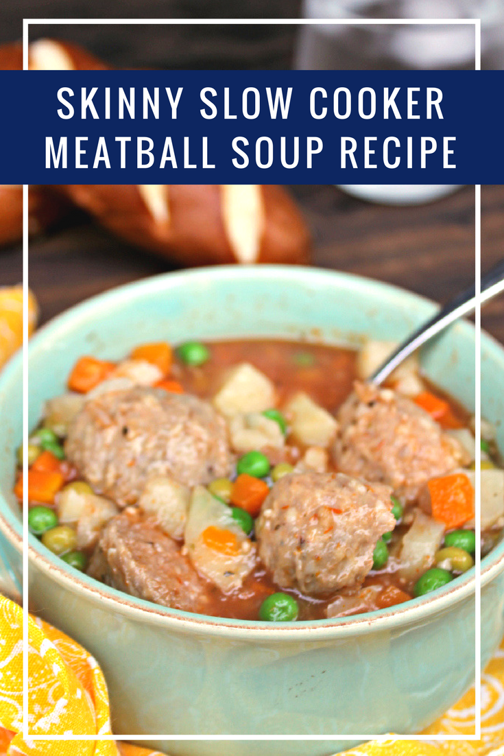 If you have a favorite recipe that is high in fat, carbs and calories, it is easy to make healthy swaps. That is what I did for this Skinny Slow Cooker Meatball Soup Recipe