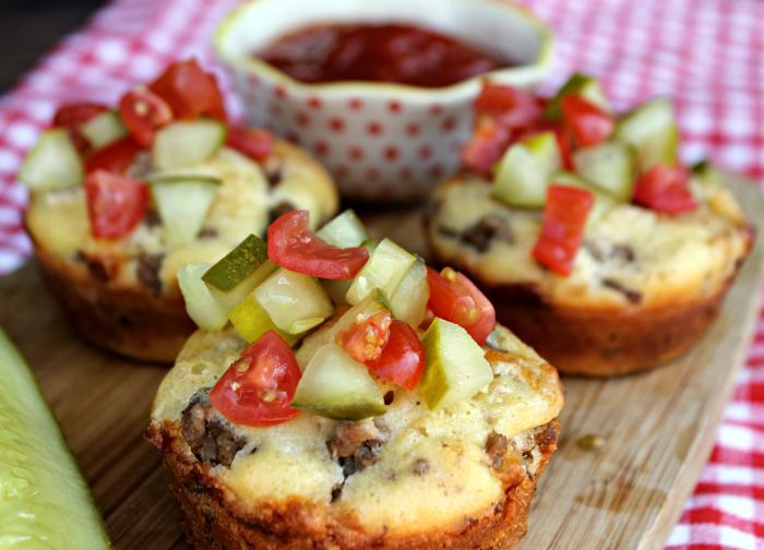 Loaded Cheeseburger Muffins 4