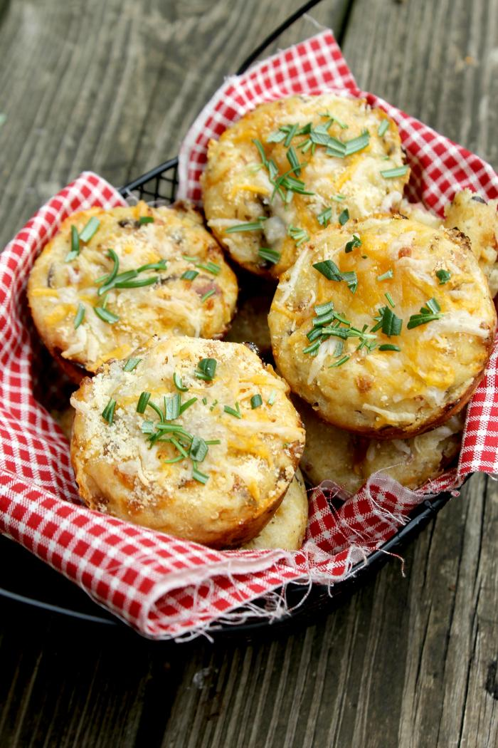 We are usually running late in the mornings. Weekly meal prep and cooking are a huge timesaver. One of our favorite grab and go breakfasts are my Savory Cottage Cheese Breakfast Muffins