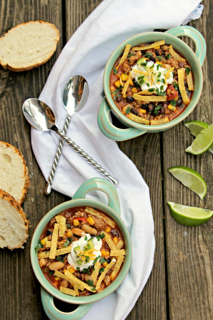 When it is cold outside, I love to get a pot of soup going. There is nothing like a hot bowl of soup to warm the soul, right?! One of our favorite recipes is my Skinny Slow Cooker Southwestern Black Bean Tortilla Soup.