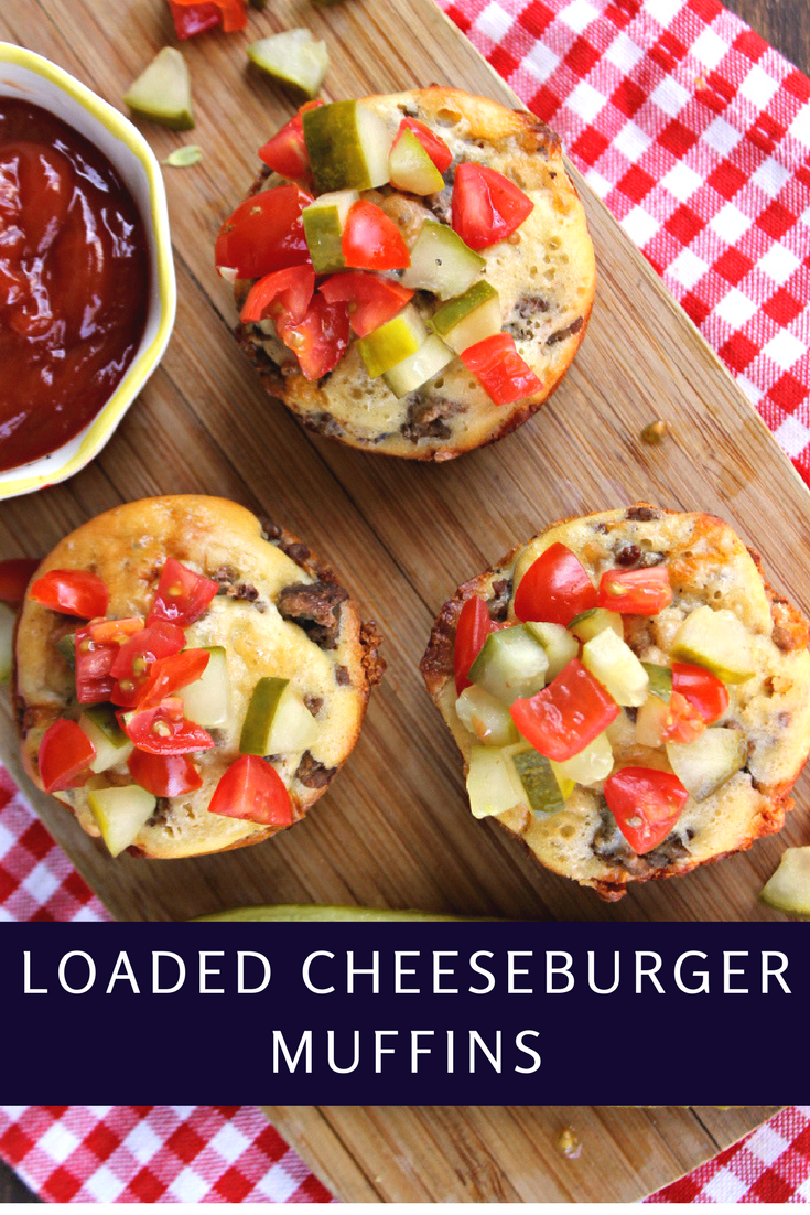My Loaded Cheeseburger Muffins are ready in just 30 minutes. They are an easy dinner solution the whole family will love!