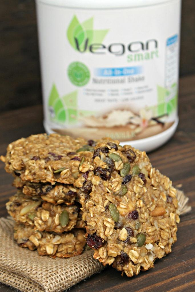 Vegan Protein Breakfast Cookie Recipe shake and cookie