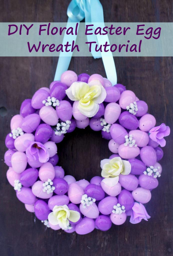 Easter is one of my favorite holidays. To celebrate, I created this Easy To Make Plastic Easter Egg Wreath Craft