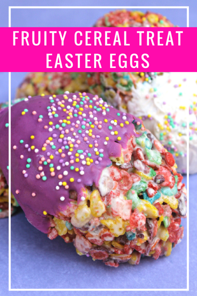 As a kid, I looked forward to our family Easter Egg Hunt and mom's special Easter cereal treats. I make my own version for my kids. They love my Fruity Cereal Treat Easter Eggs.