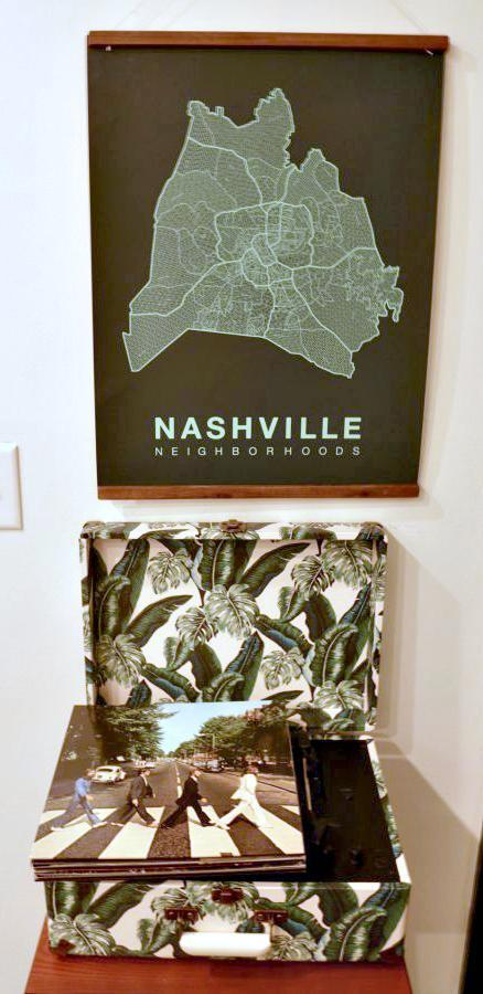 SoBro Guest House Is The Coolest Boutique Hotel In Nashville record player