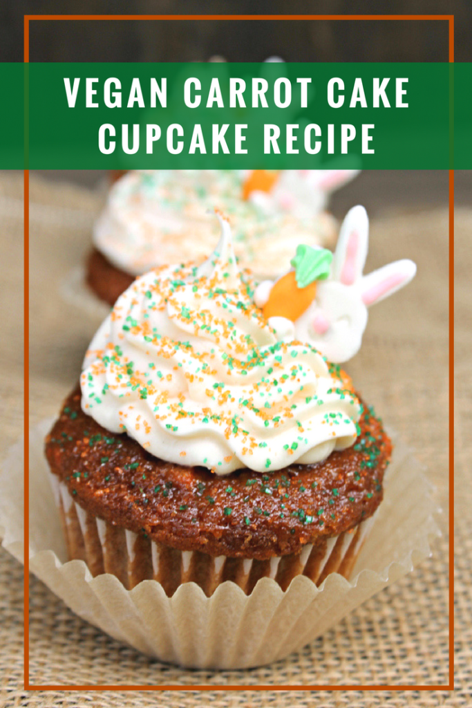 My Vegan Carrot Cake Cupcakes are the perfect spring or Easter dessert. My family adores them!