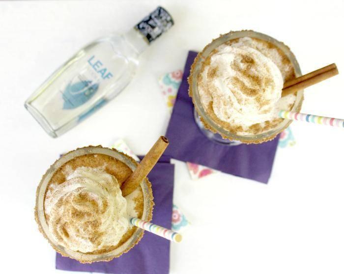Boozy Horchata Milkshake Cinco de Mayo Cocktail leaf