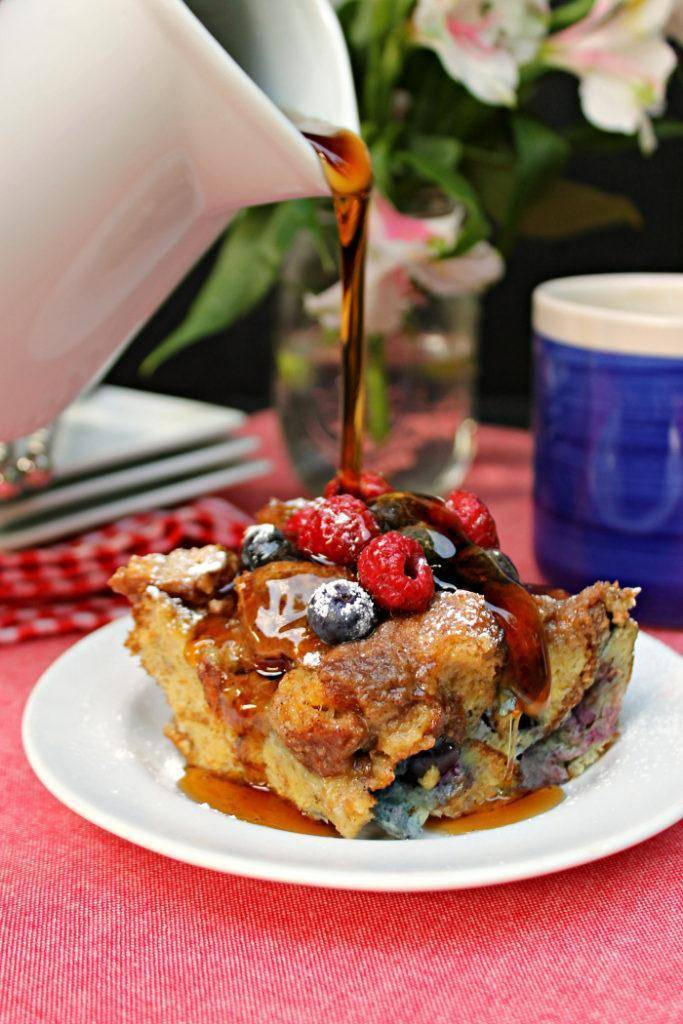 Blueberry Dulce de Leche French Toast Casserole 2