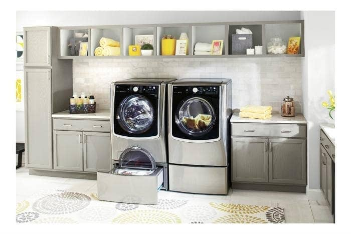 The LG Front Load Washer From Best Buy Makes Doing Laundry A Breeze!