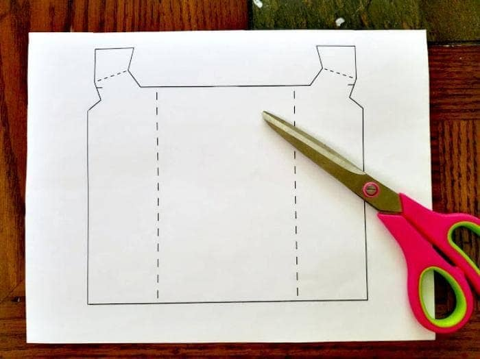 Homemade Father's Day Scrapbook Paper Vest Card template