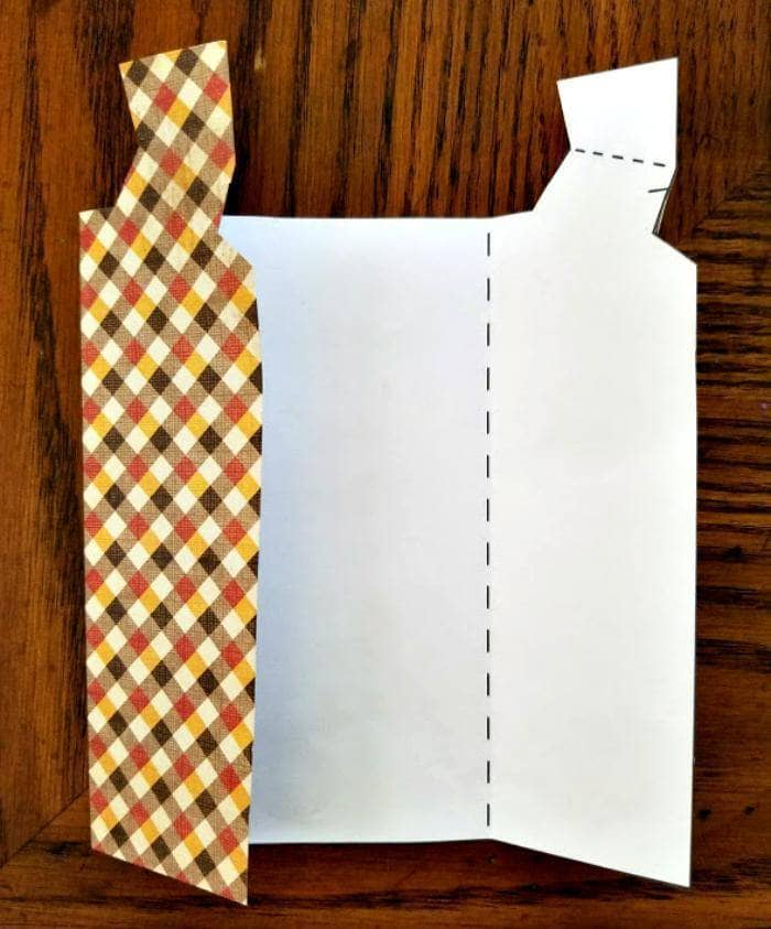 Homemade Father's Day Scrapbook Paper Vest Card template folding