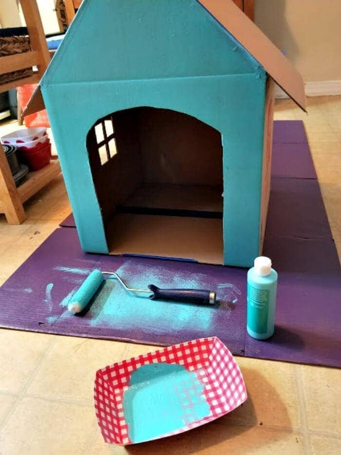 DIY Cardboard Cat House Tutorial step eight