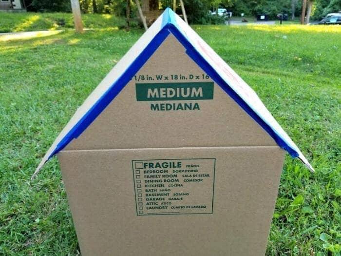 DIY Cardboard Cat House Tutorial step four