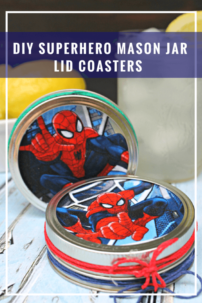 The little details make a special occasion memorable. That is why handmade gifts like these DIY Superhero Mason Jar Lid Coasters for dad are such a hit