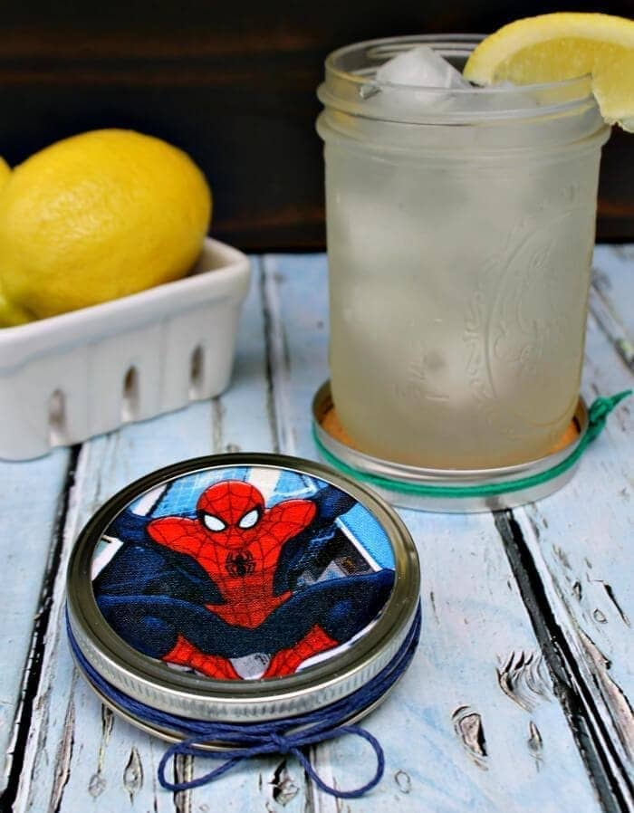 DIY Superhero Mason Jar Lid Coasters 2
