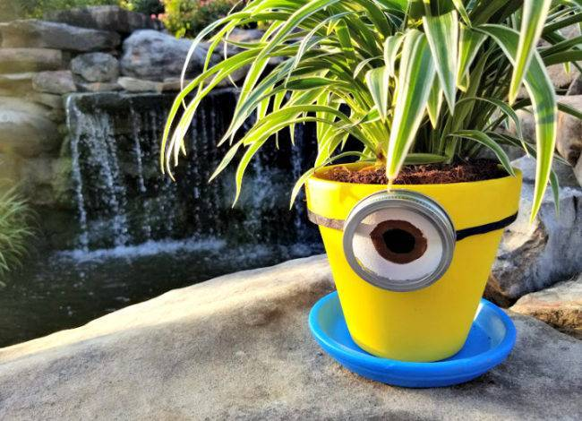 DIY Minions Flower Planter Craft