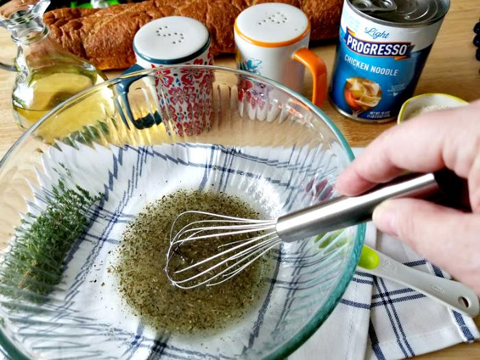 Homemade Croutons Recipe oilherbs