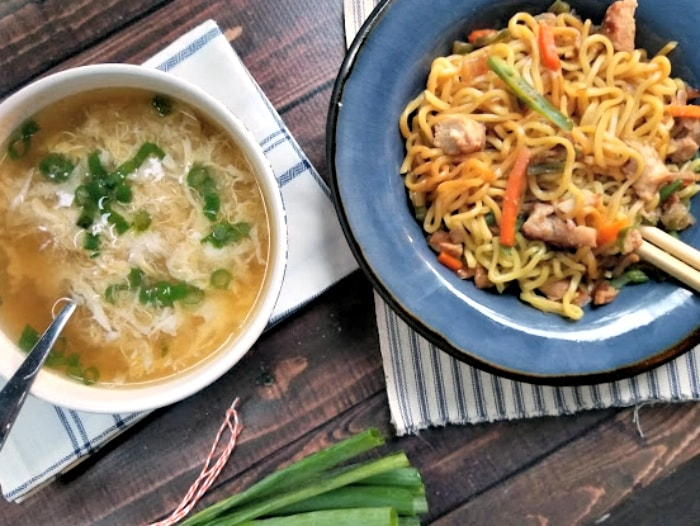 Easy 10 Minute Egg Drop Soup Recipe And Ling Ling Asian Style Fried Rice = The Perfect Meal