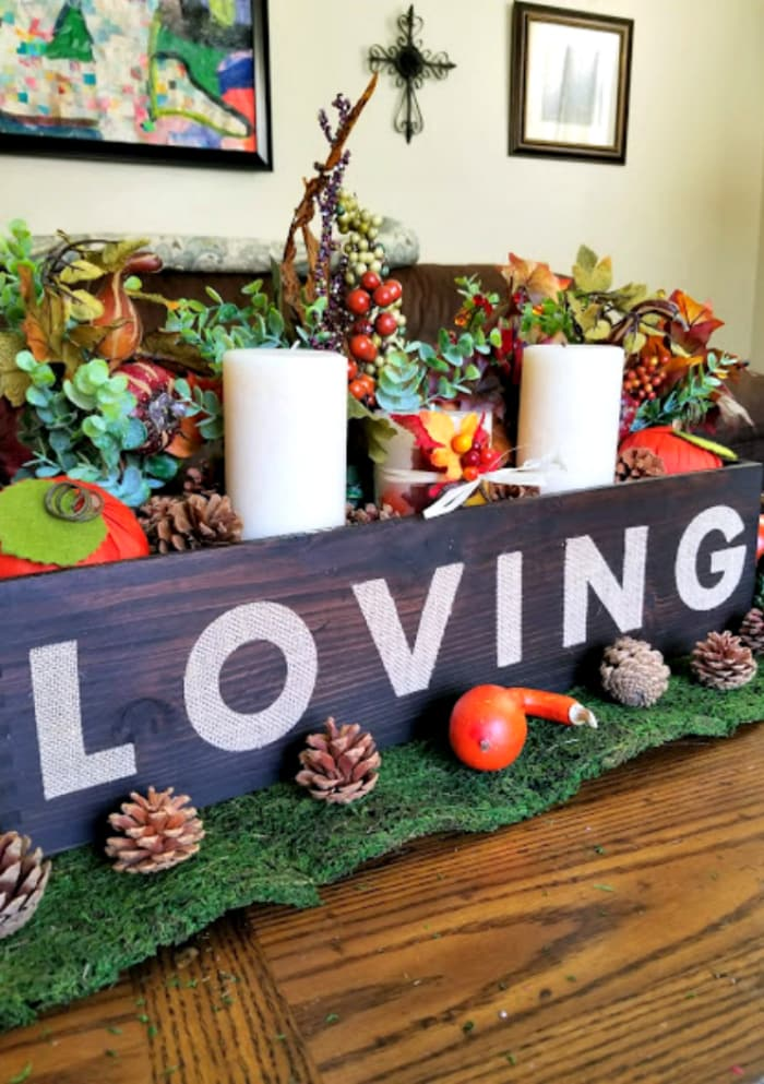 Easy Rustic Fall Or Thanksgiving Table Centerpiece