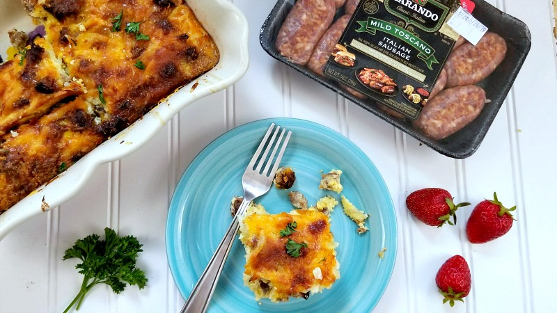 Everything Bagel Breakfast Casserole Recipe hero