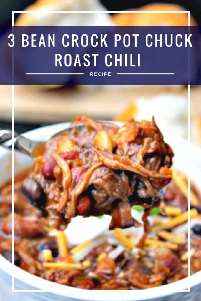 I love comfort food recipes because they warm the soul. That is why my easy 3 Bean Crock Pot Chuck Roast Chili is so popular!
