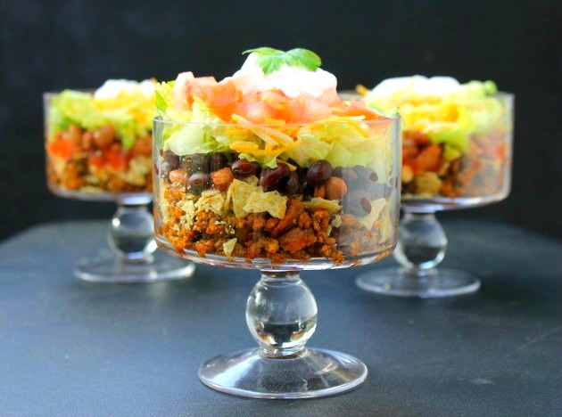 Layered Beef Taco Salad