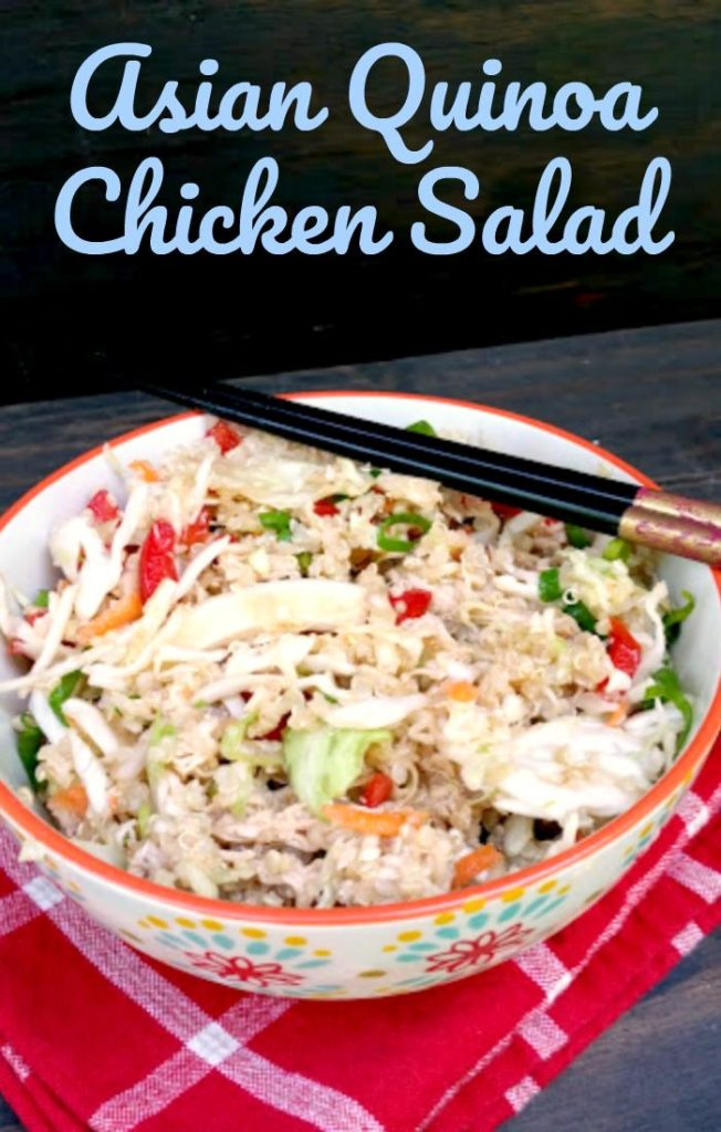 This Asian Quinoa Chicken Salad is an affordable and healthy lunch or dinner recipe the whole family will love.