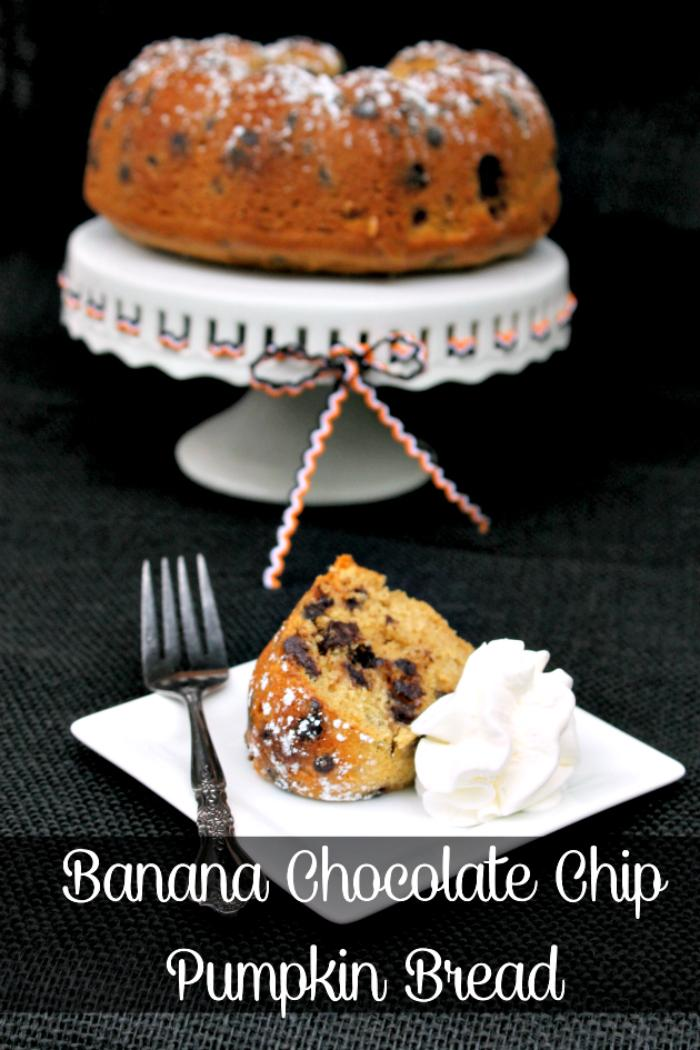 Banana Chocolate Chip Pumpkin Bread Recipe