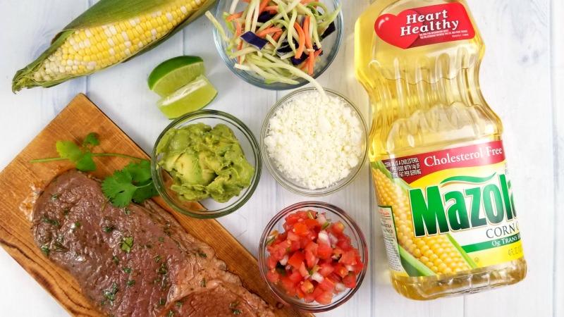 Chipotle Marinade Carne Asada Street Tacos Recipe ingredients