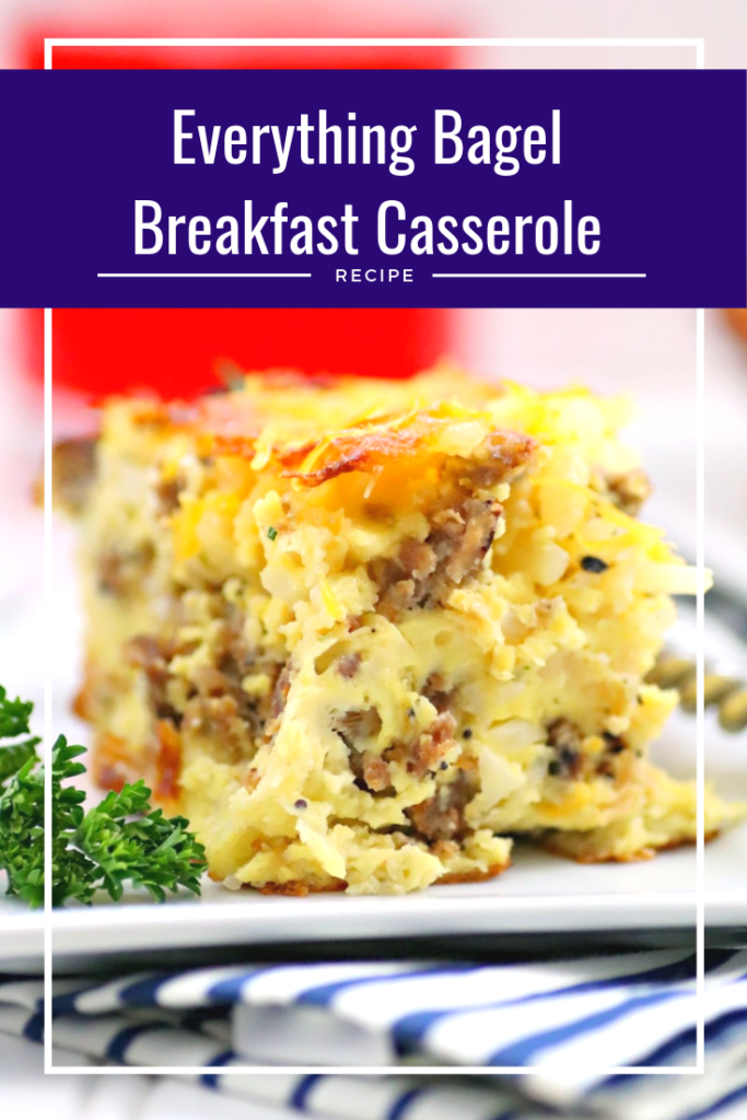 This easy Everything Bagel Breakfast Casserole Recipe is the perfect meal for a weekend brunch! #ad #MyCarandoMeal