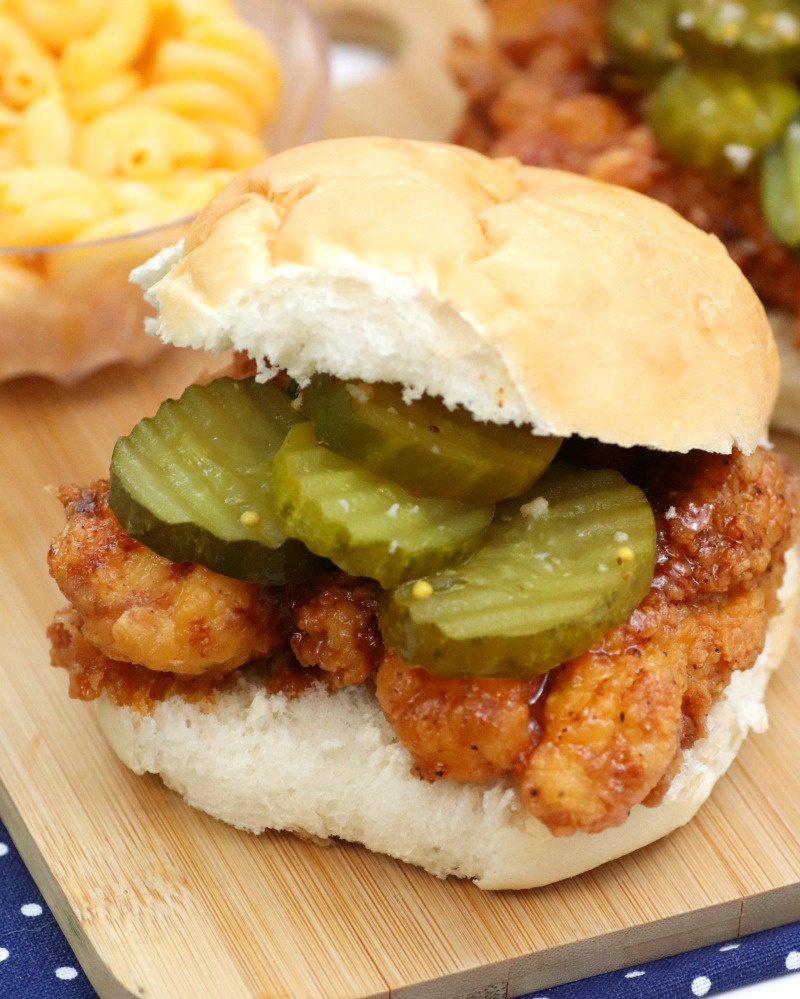 Crispiest Nashville Style Fried Chicken Sandwich Recipe 6