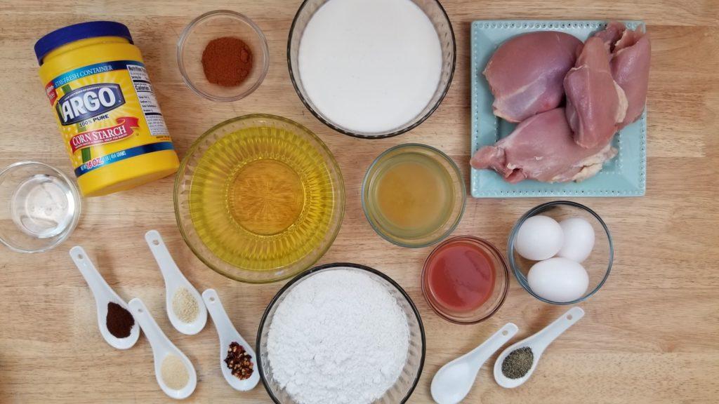 Crispiest Nashville Style Fried Chicken Sandwich Recipe ingredients