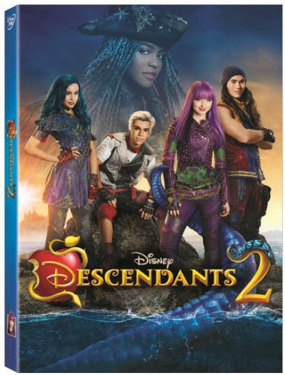 Descendants 2 Now On DVD box-art