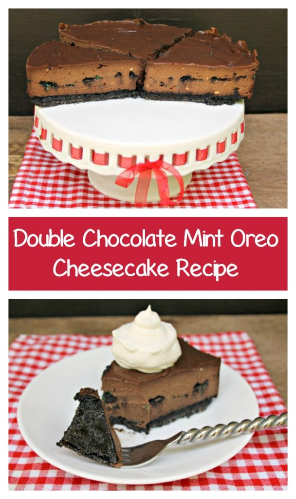 If you want your cheesecake to turn out perfectly every time, read on to get my secret and make this amazing Double Chocolate Mint Oreo Cheesecake Recipe for yourself!