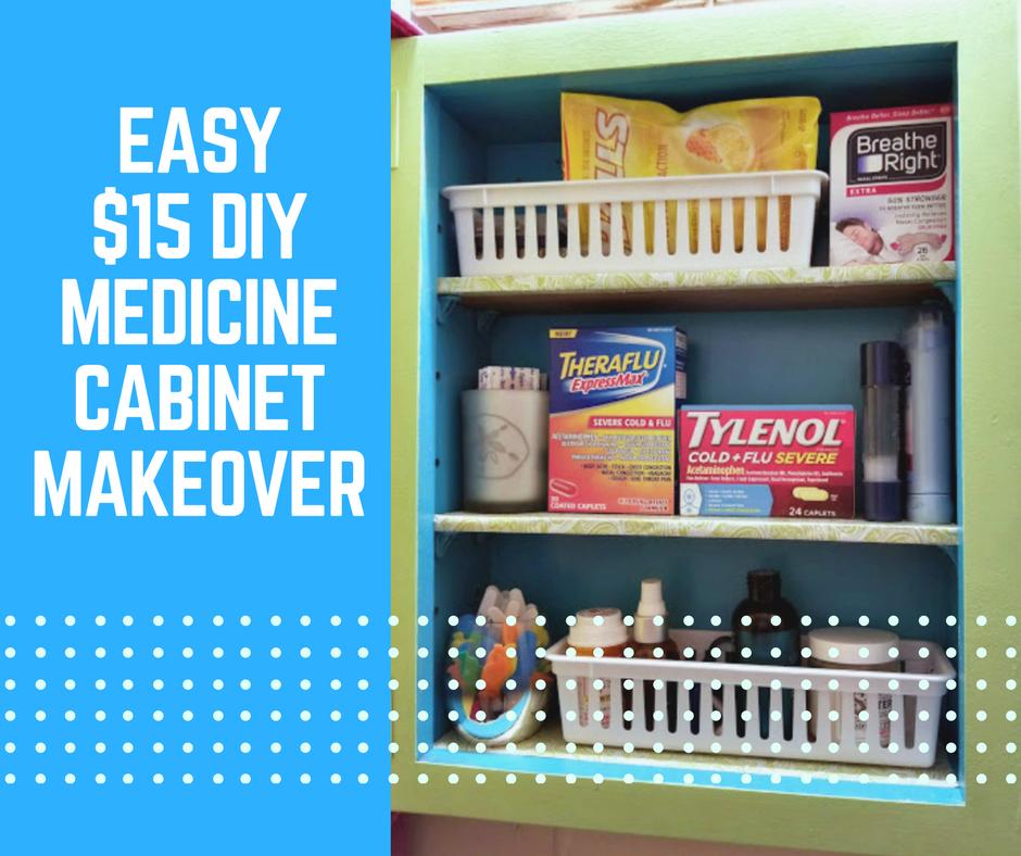 Easy $15 DIY Medicine Cabinet Makeover
