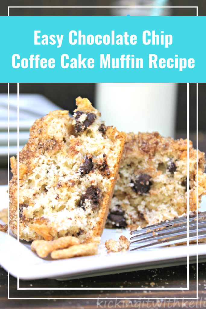 Easy Chocolate Chip Coffee Cake Muffin Recipe pin