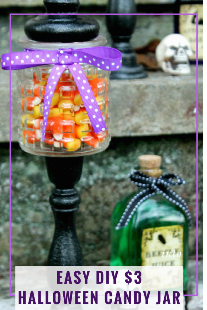 This Easy DIY Halloween Candy Jar craft is fun to make and costs less than three dollars each. The kids will love making and filling them with candy and eating their treats!!