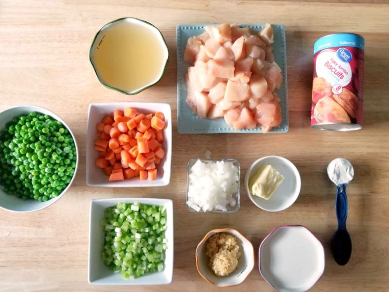 Easy Instant Pot Creamy Chicken and Dumplings Recipe Ingredients