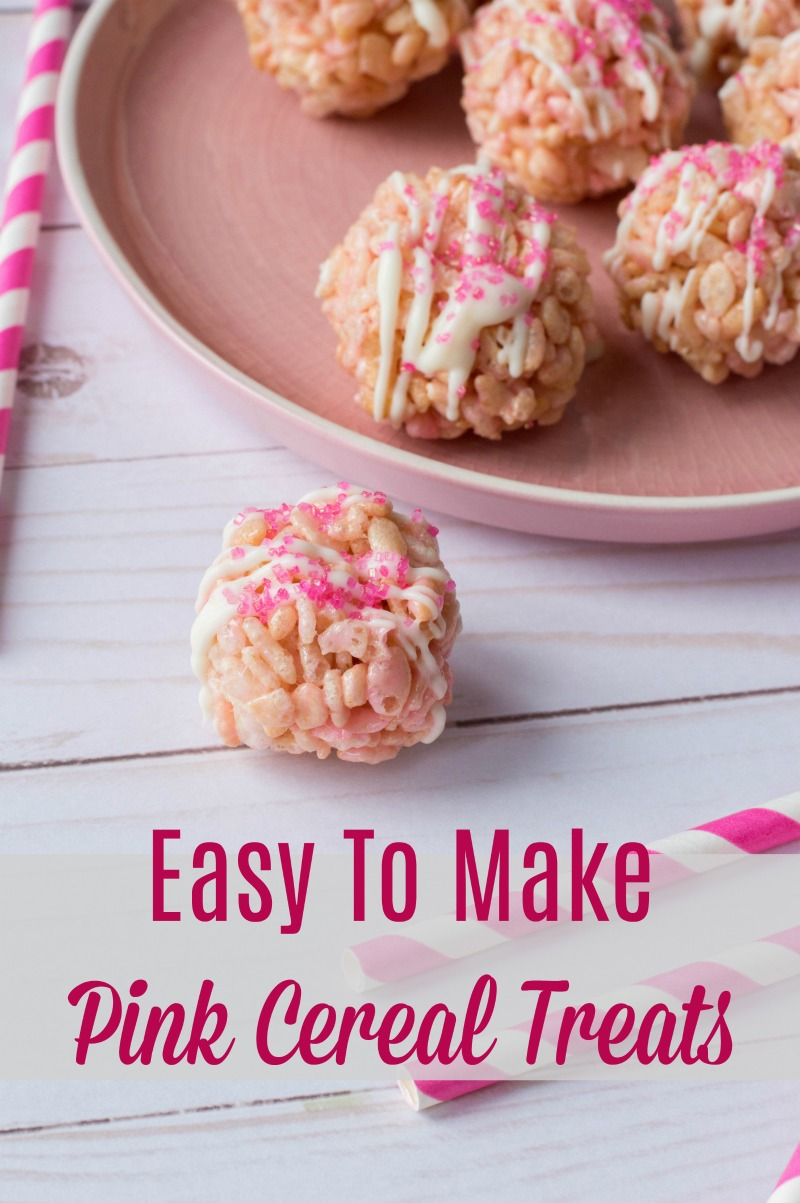 You are going to be hooked on my Easy To Make Pink Cereal Treats Recipe! They are great for parties and add a touch of brightness to your dessert table.