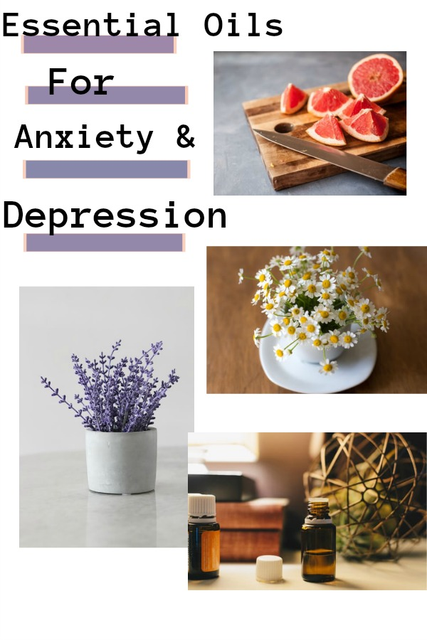 Essential Oils for Anxiety and Depression pin